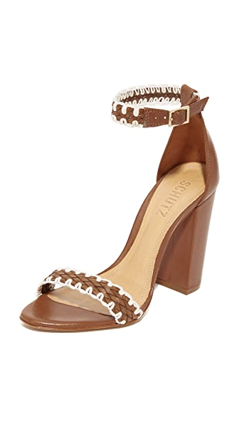 Schutz Floriza Sandals - Saddle