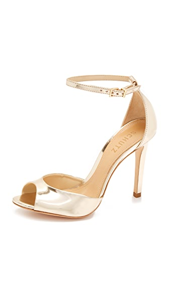 Schutz Saasha Lee Sandals - Platina