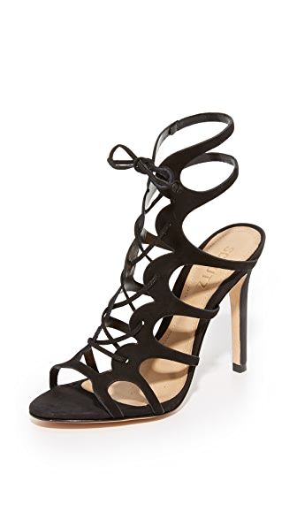 Schutz Laurine Wrap Sandals - Black
