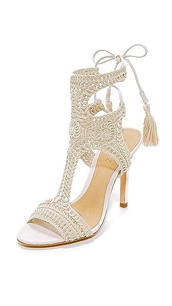 Schutz Veca Wrap Sandals - Cru
