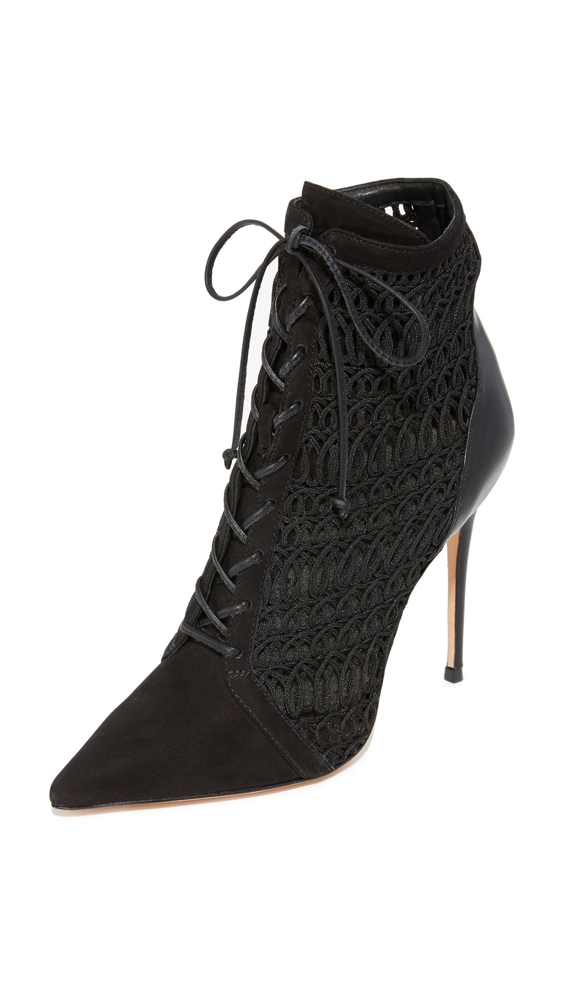 Schutz Jolana Lace Up Booties - Black