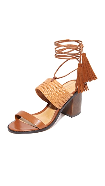 Schutz Luky Wrap Sandals - Saddle