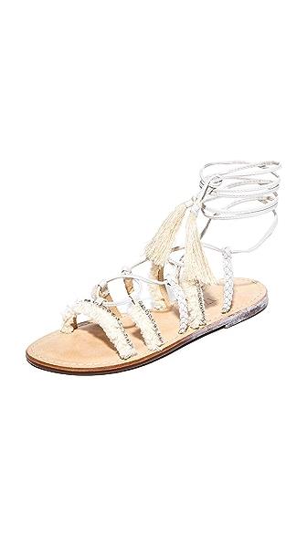 Schutz Jolina Wrap Sandals - Pearl