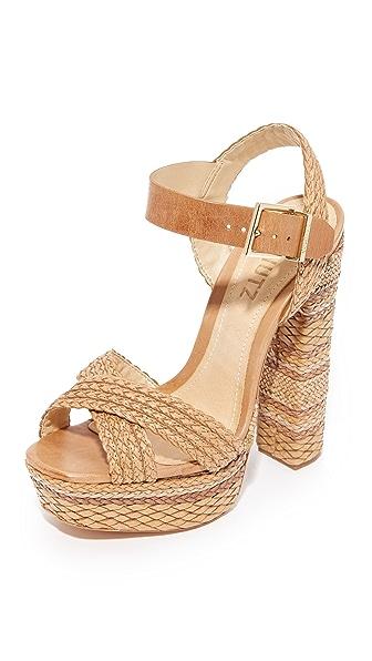 Schutz Lorah Platform Sandals - Desert