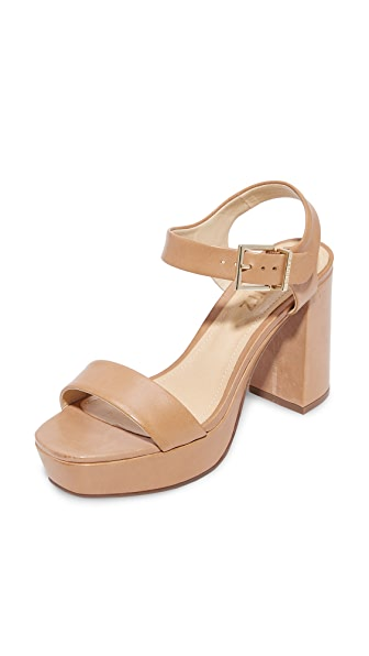 Schutz Rhenda Platform Sandals - Desert