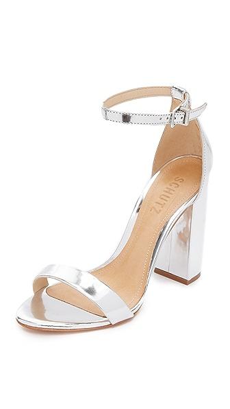 Schutz Alaise Sandals - Prata