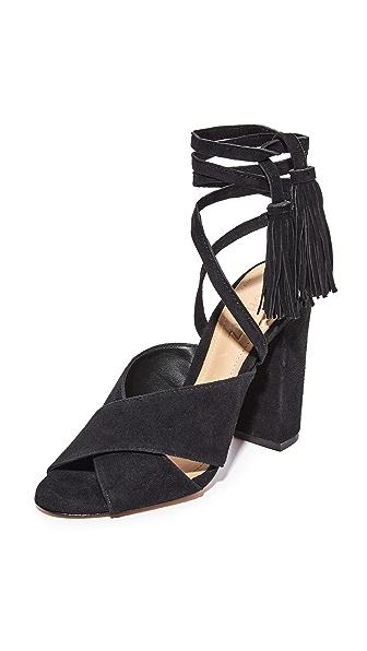 Schutz Damila Wrap Sandals In Black