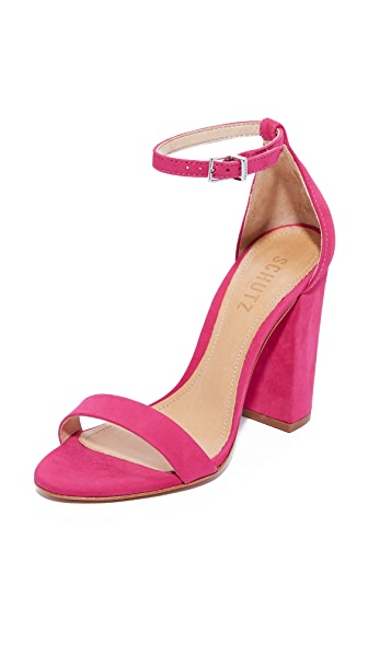 Schutz Alaise Sandals - Rose Pink