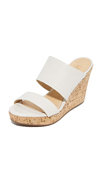 Schutz Kai Wedge Slides - Pearl