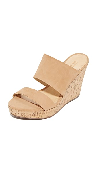 Schutz Kai Wedge Slides - Desert