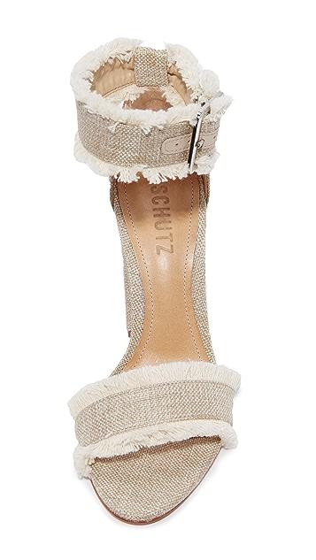 Schutz Janessa Fray Sandals