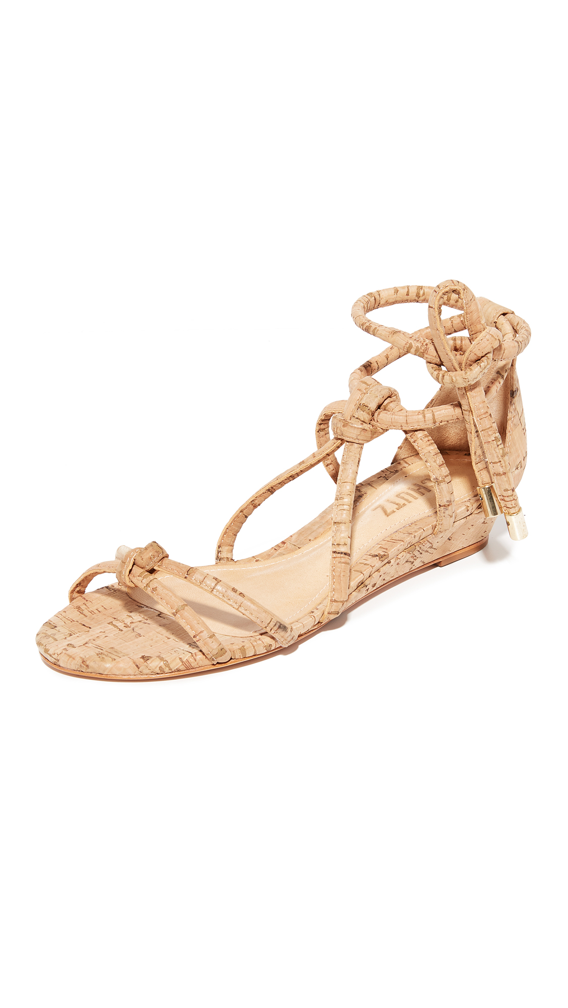 Schutz Margarete Wedge Sandals - Natural