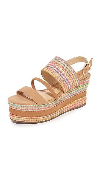 Schutz Natalya Flatform Sandals - Desert/Multi