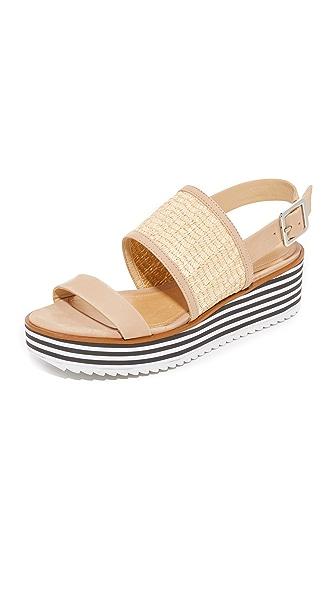 Schutz Jandrea Flatform Sandals In Natural/Amber