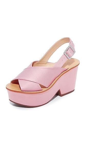 Schutz Miriam Platform Sandals - Rose/Tan