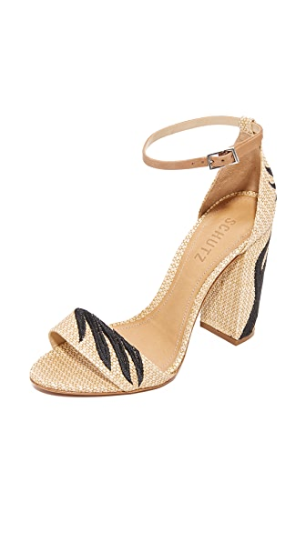 Schutz Caroline Sandals In Natural