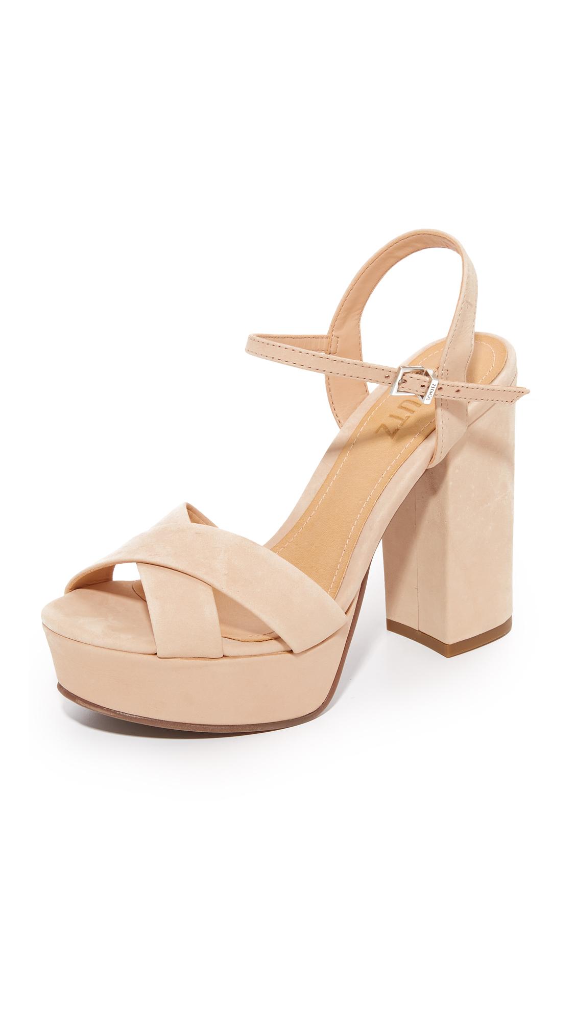 Schutz Samanta Platform Sandals - Tanino Ii