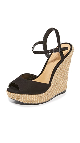 Schutz Elhan Wedges In Black