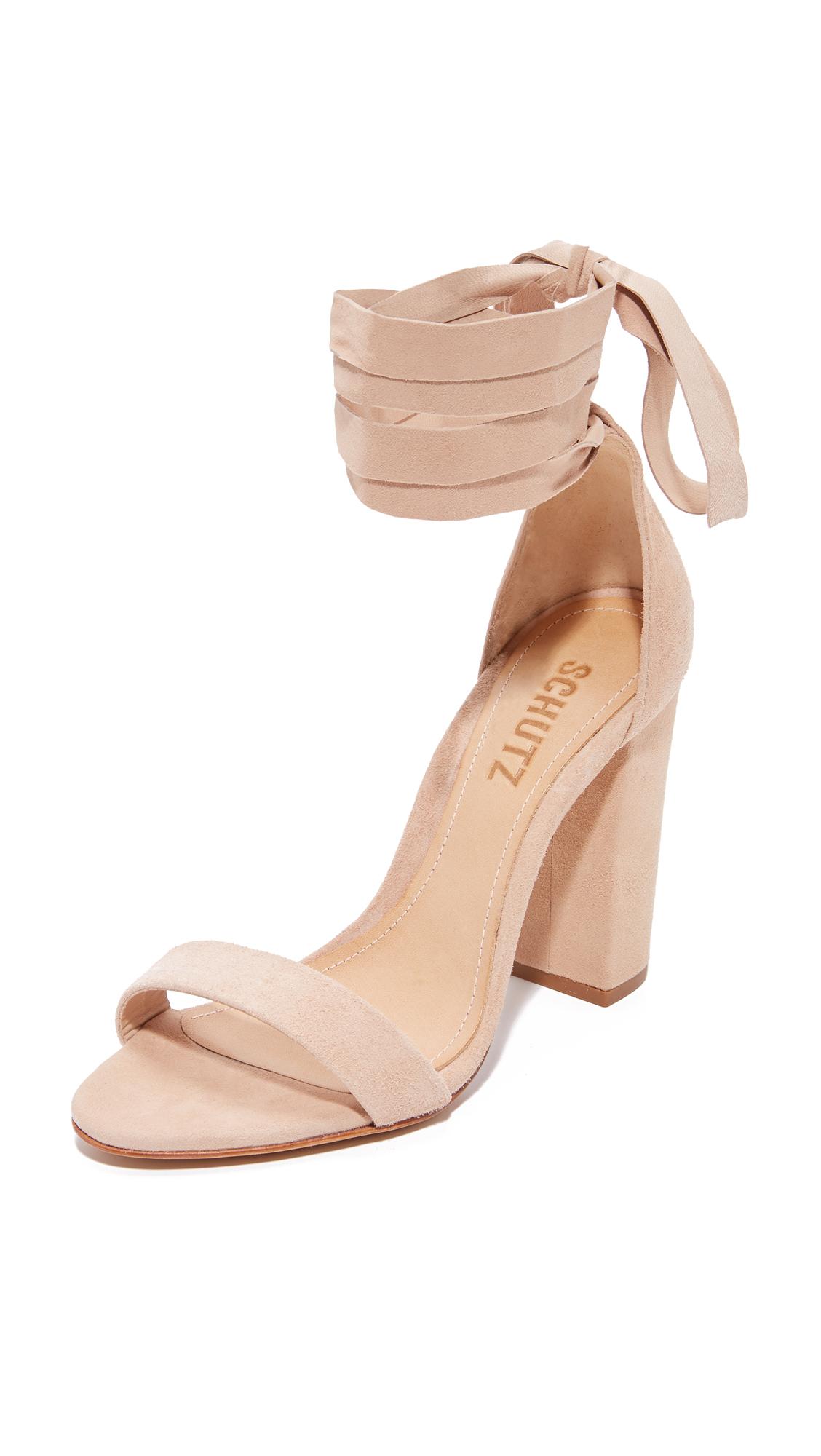 Schutz Kelma Sandals - Amendoa