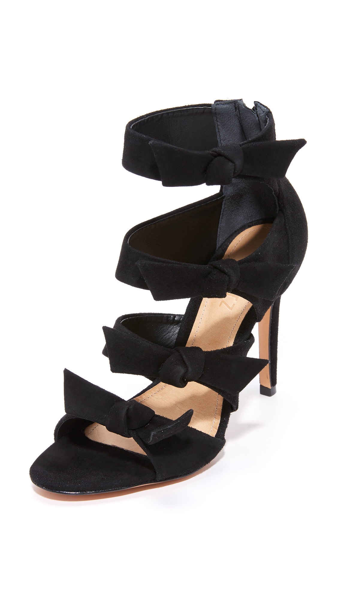 Schutz Miranda Bow Sandals - Black