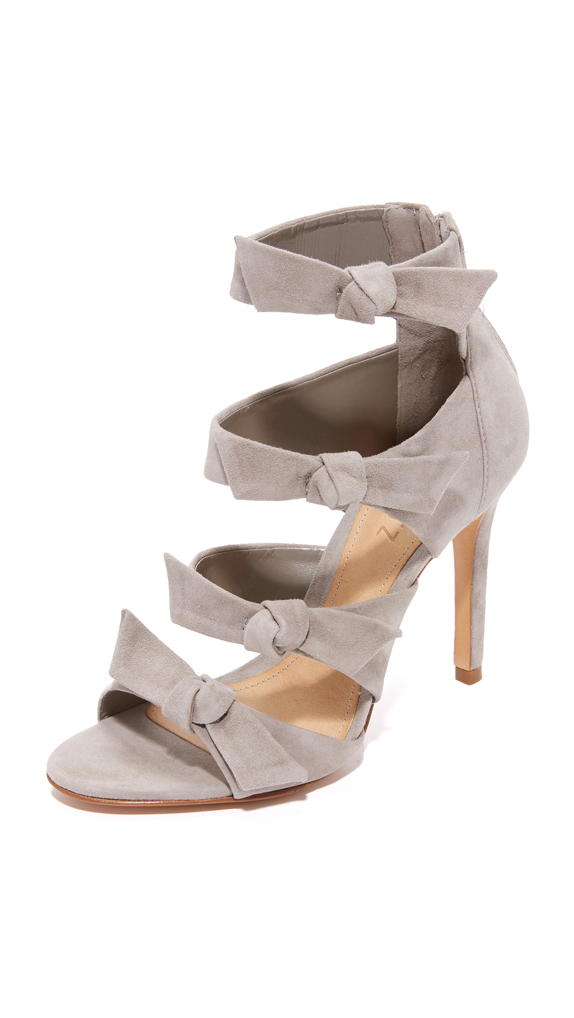 Schutz Miranda Bow Sandals - Mouse