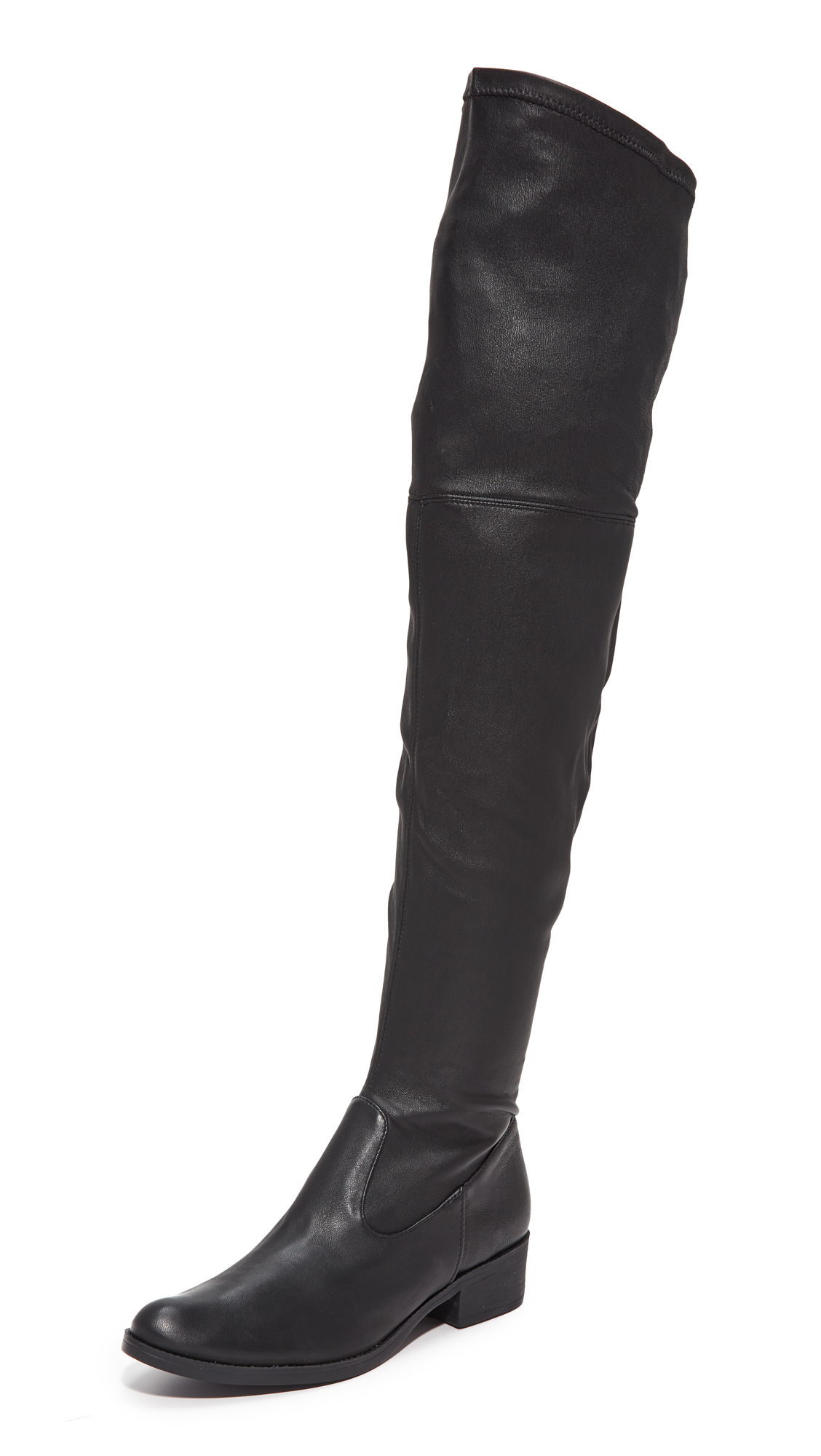 Schutz Rovari Over the Knee Stretch Boots - Black