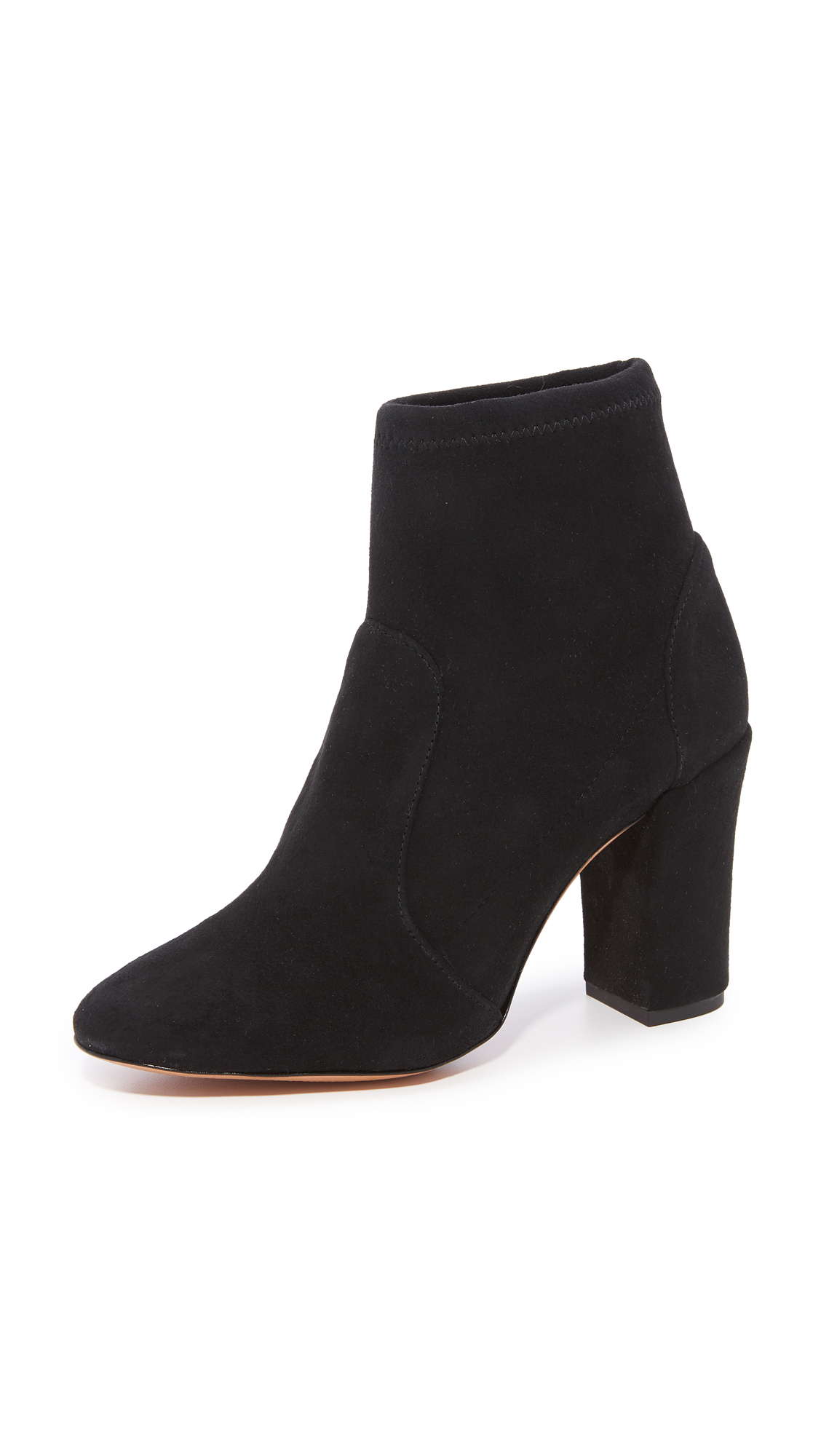 Schutz Ditte Stretch Ankle Booties - Black