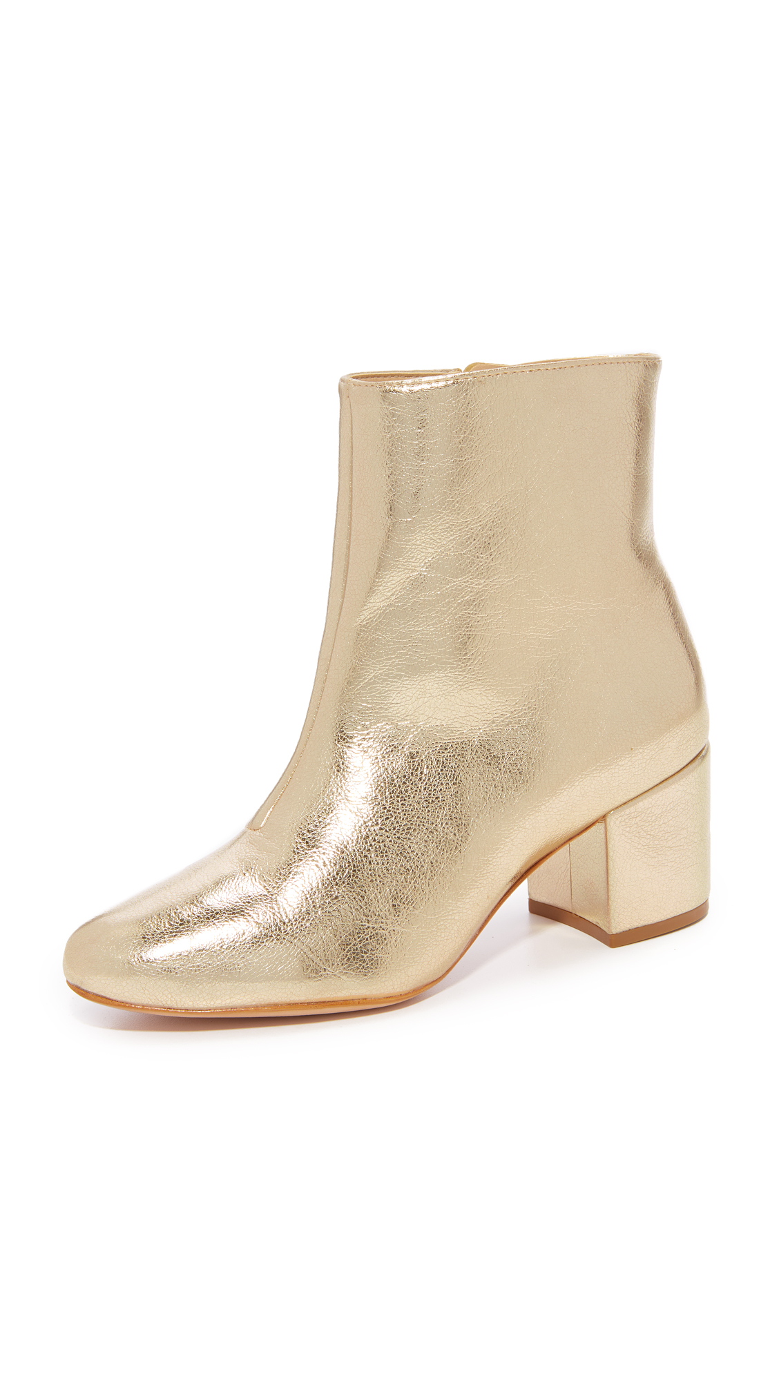Schutz Lupe Stacked Ankle Booties - Platina