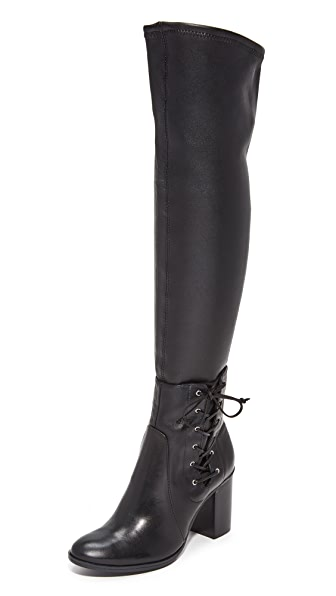 Schutz Lucca High Low Convertible Booties - Black