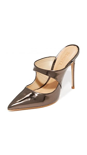 Schutz Nicolly Pointed Toe Heeled Mules - Aco