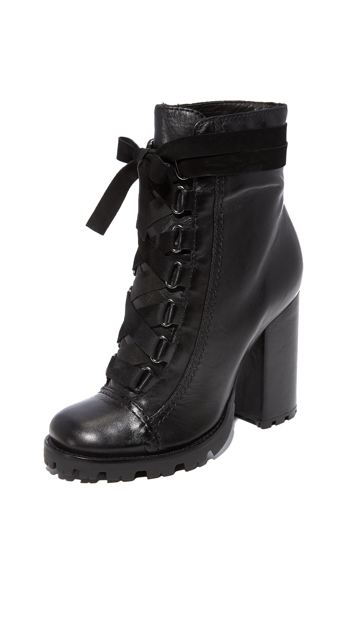 Schutz Lisie Bow Platform Boots - Black