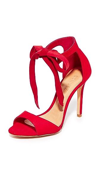 Schutz Rene Tie Sandals - Scarlet