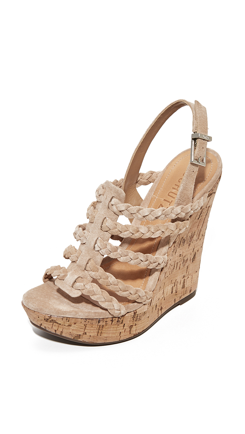 Schutz Abigally Wedge Sandals - Amber Light