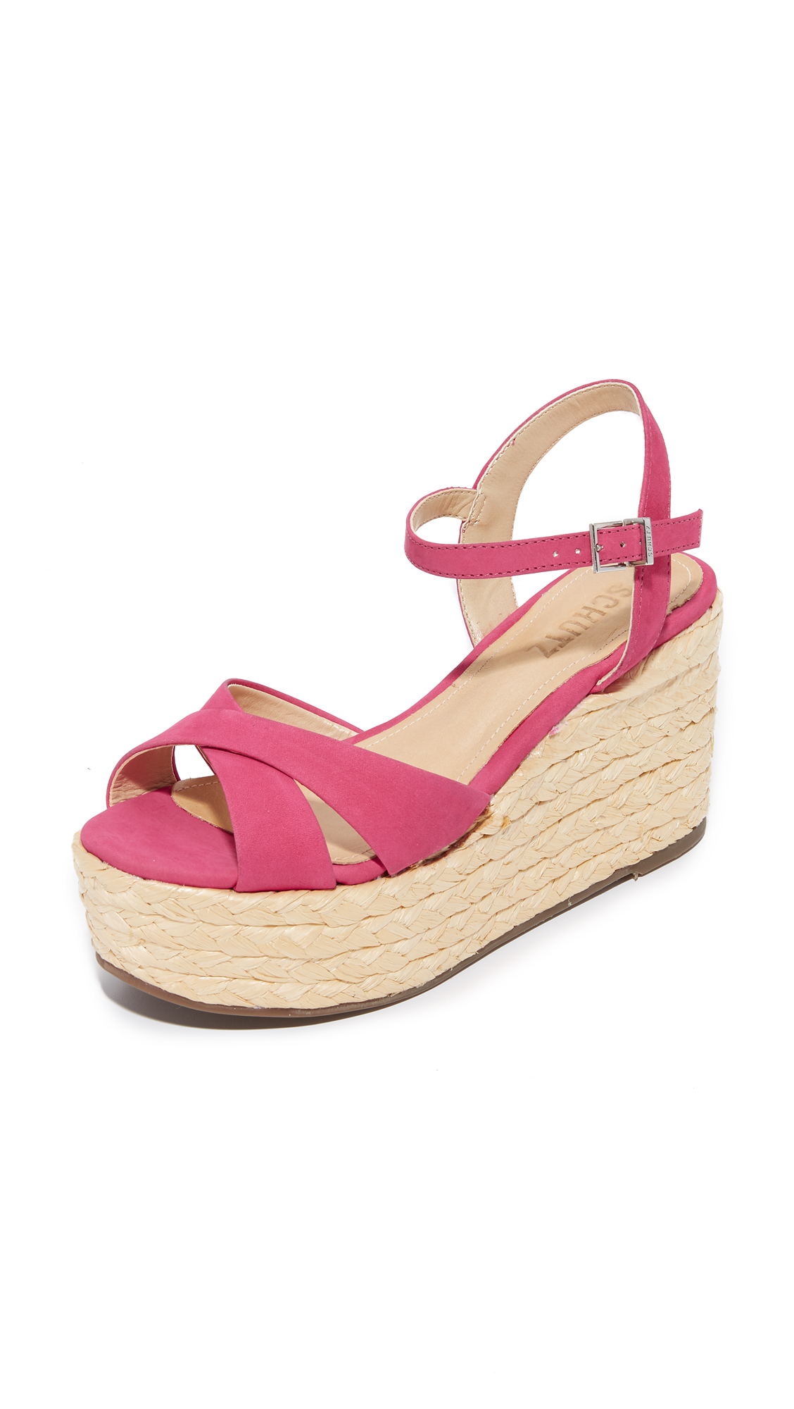 Schutz Keisi Platform Sandals - Rose Pink