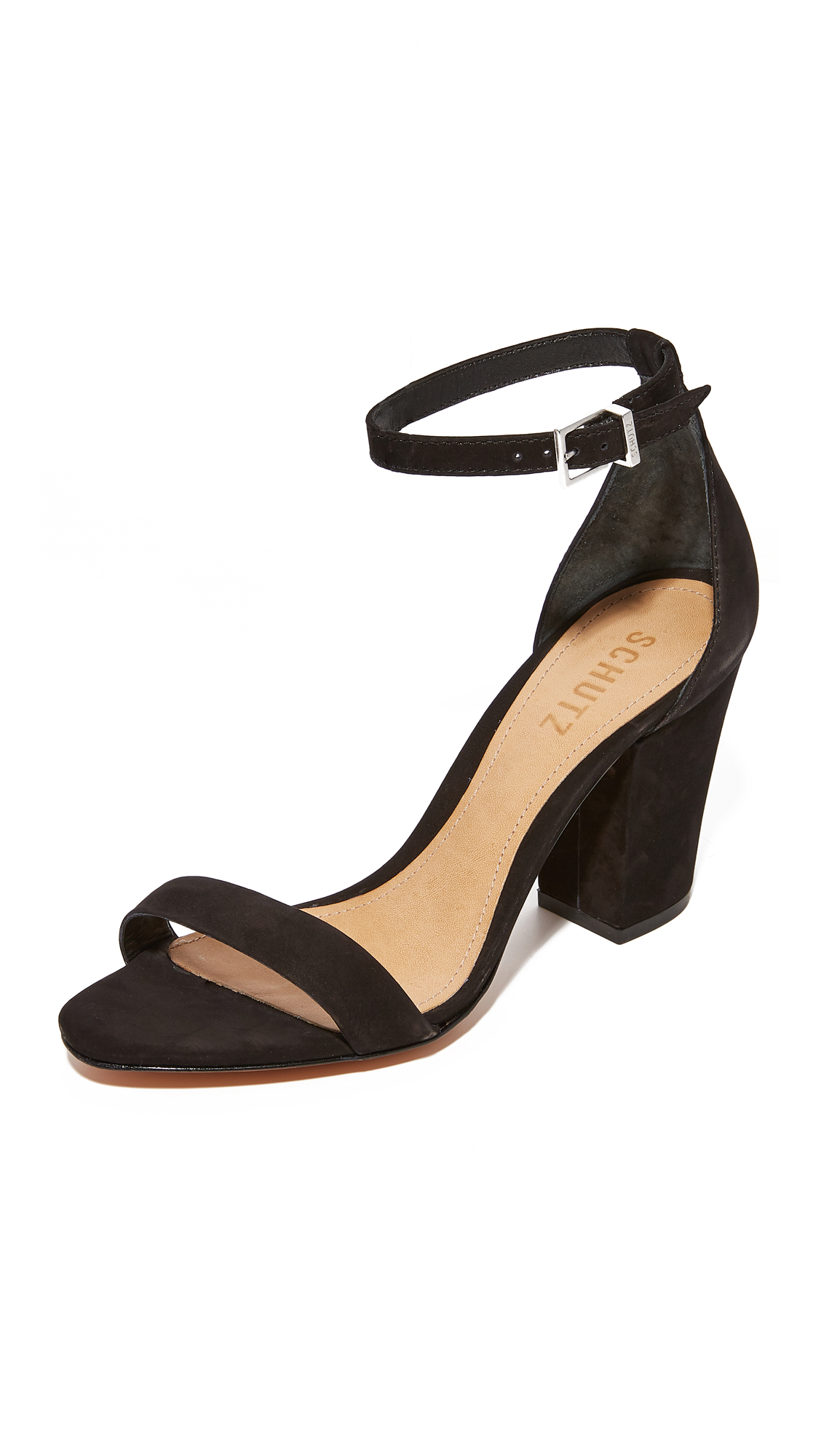 Schutz Jenny Lee Sandals In Black