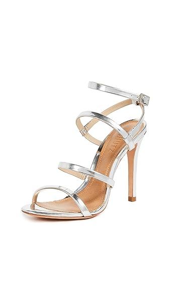 Schutz Ilara Strappy Sandals In Prata