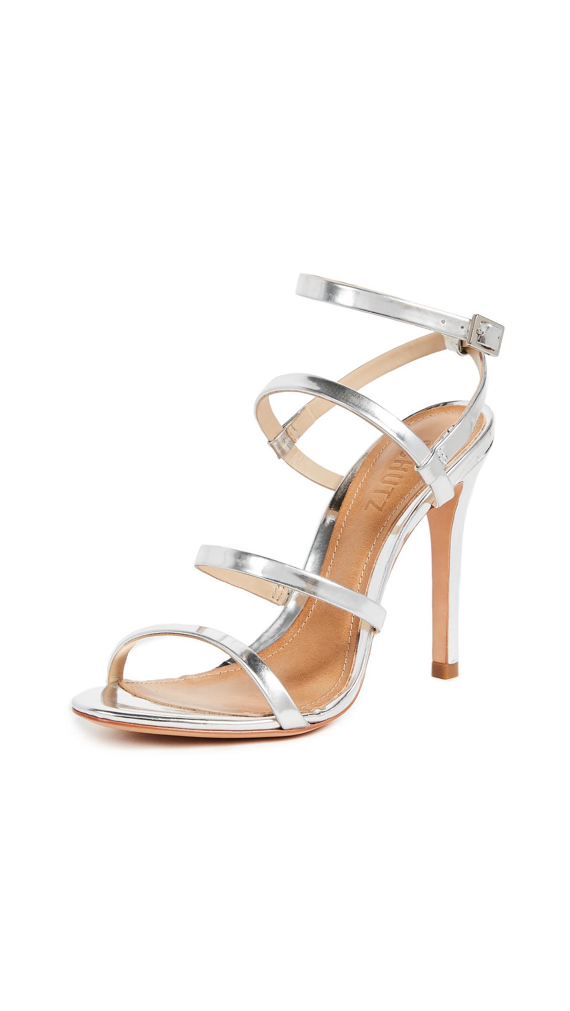 Schutz Ilara Strappy Sandals - Prata