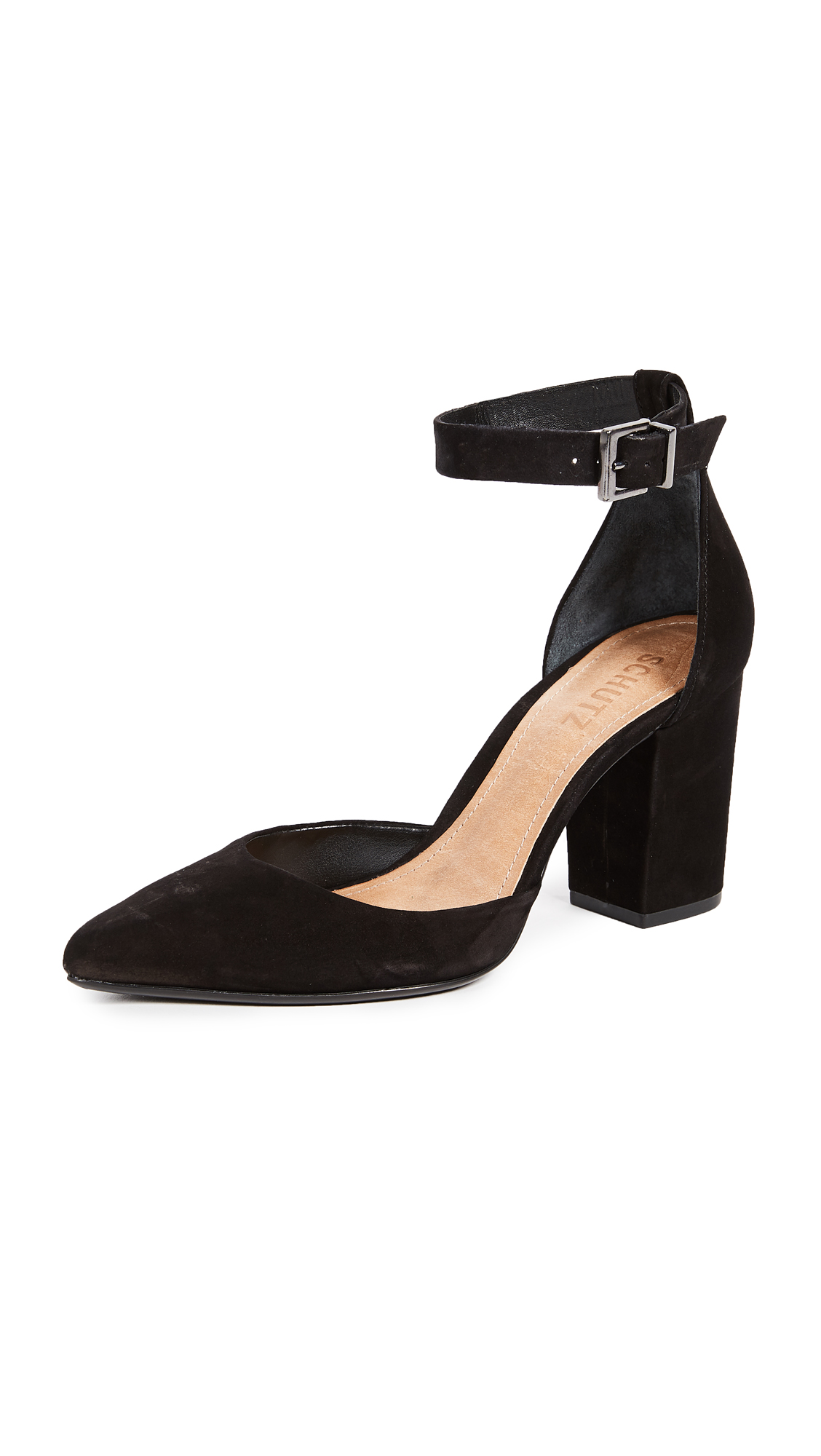 Schutz Ionara Ankle Strap Pumps - Black
