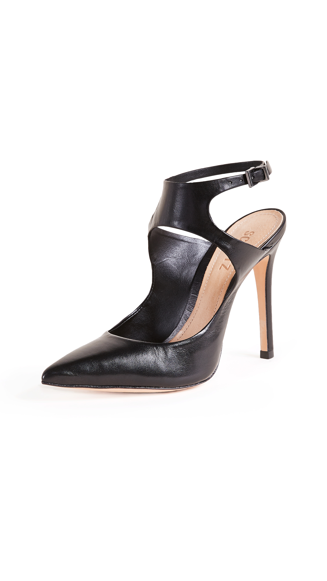 Schutz Lucina Ankle Strap Pumps - Black