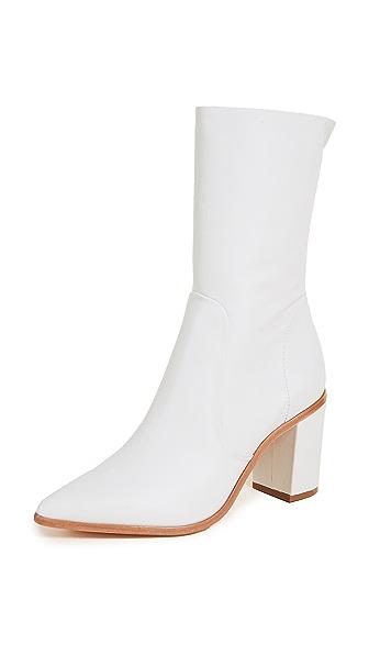 Schutz Anaflor Block Heel Boots In Pearl