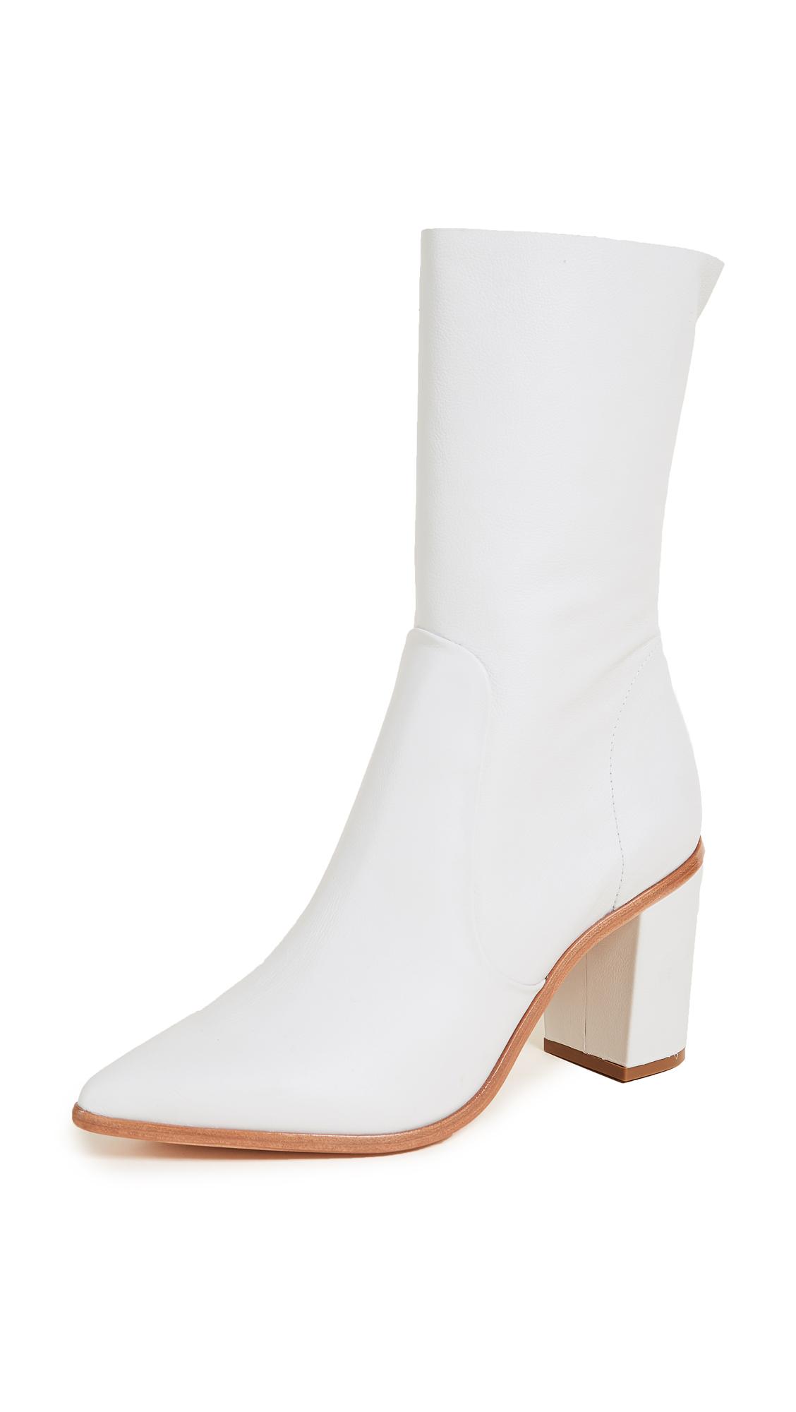 Schutz Anaflor Block Heel Boots - Pearl