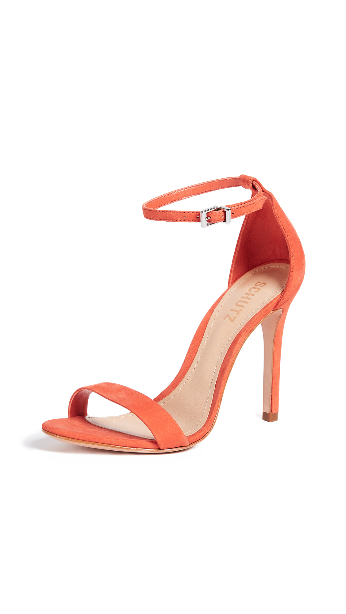 Schutz Cadey Lee Sandals - Bright Orange