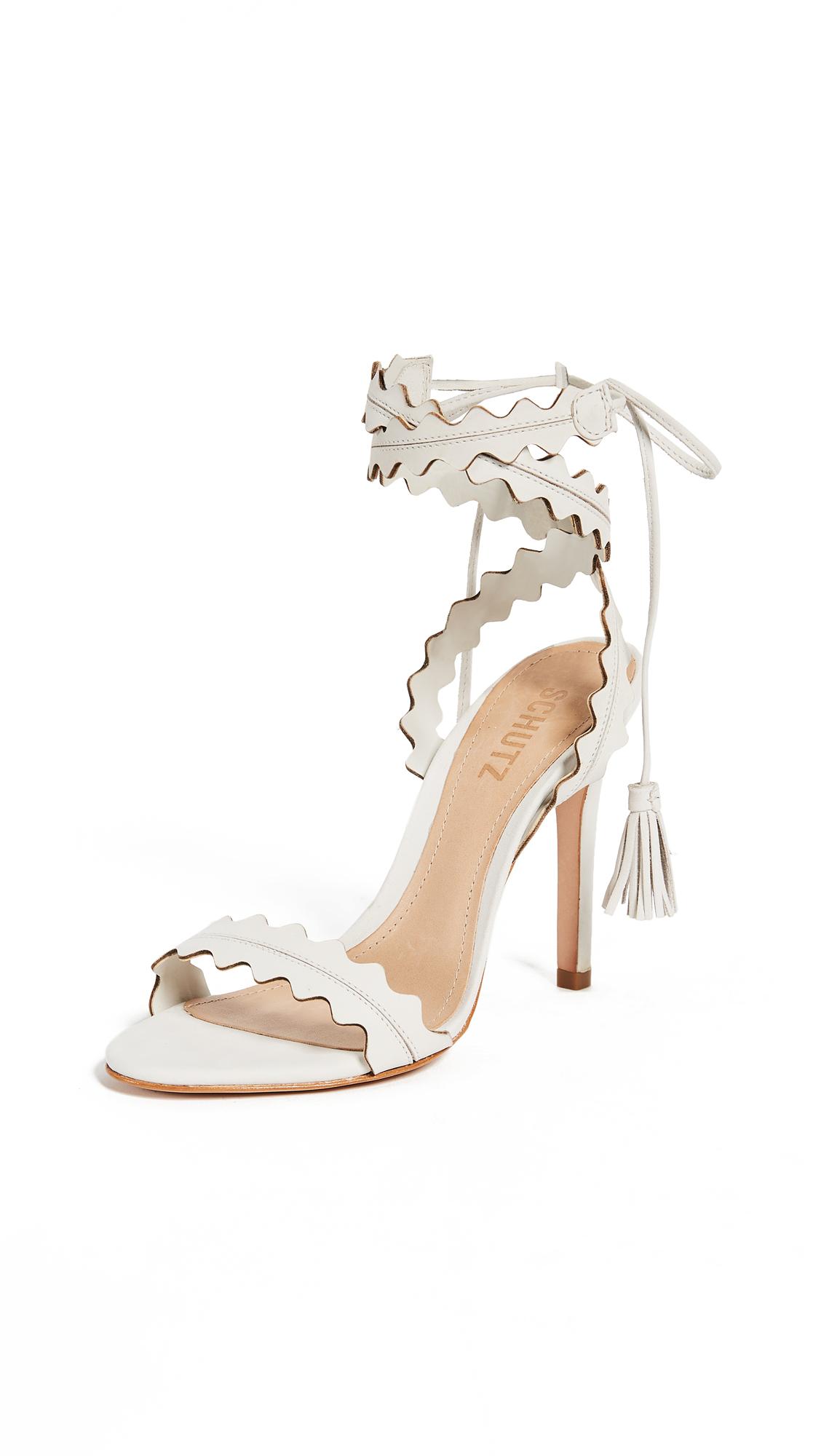 Schutz Lisana Wrap Sandals - Pearl
