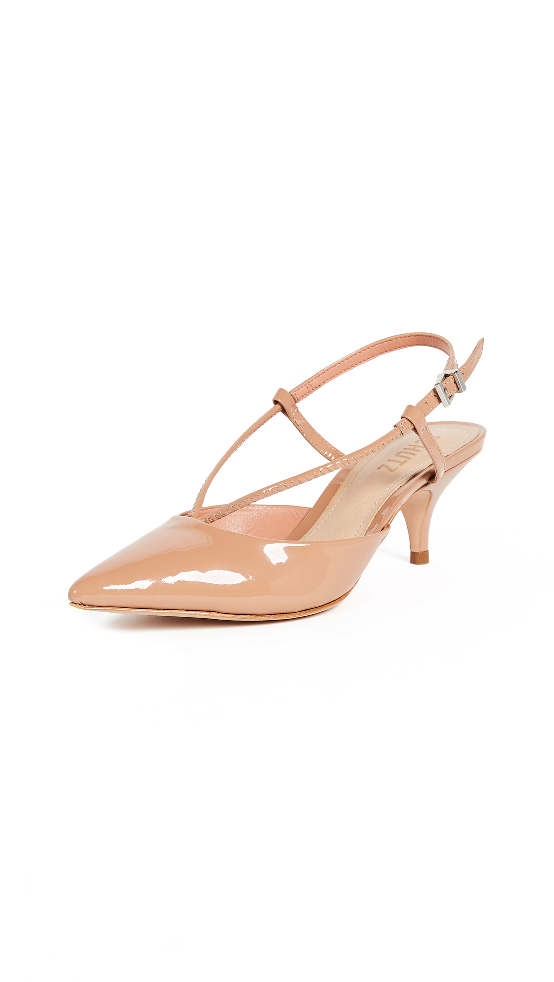 Schutz Wera Slingback Kitten Heel Pumps - Toasted Nut