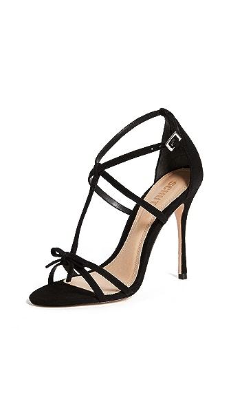 Schutz Sabina Strappy Sandals In Black