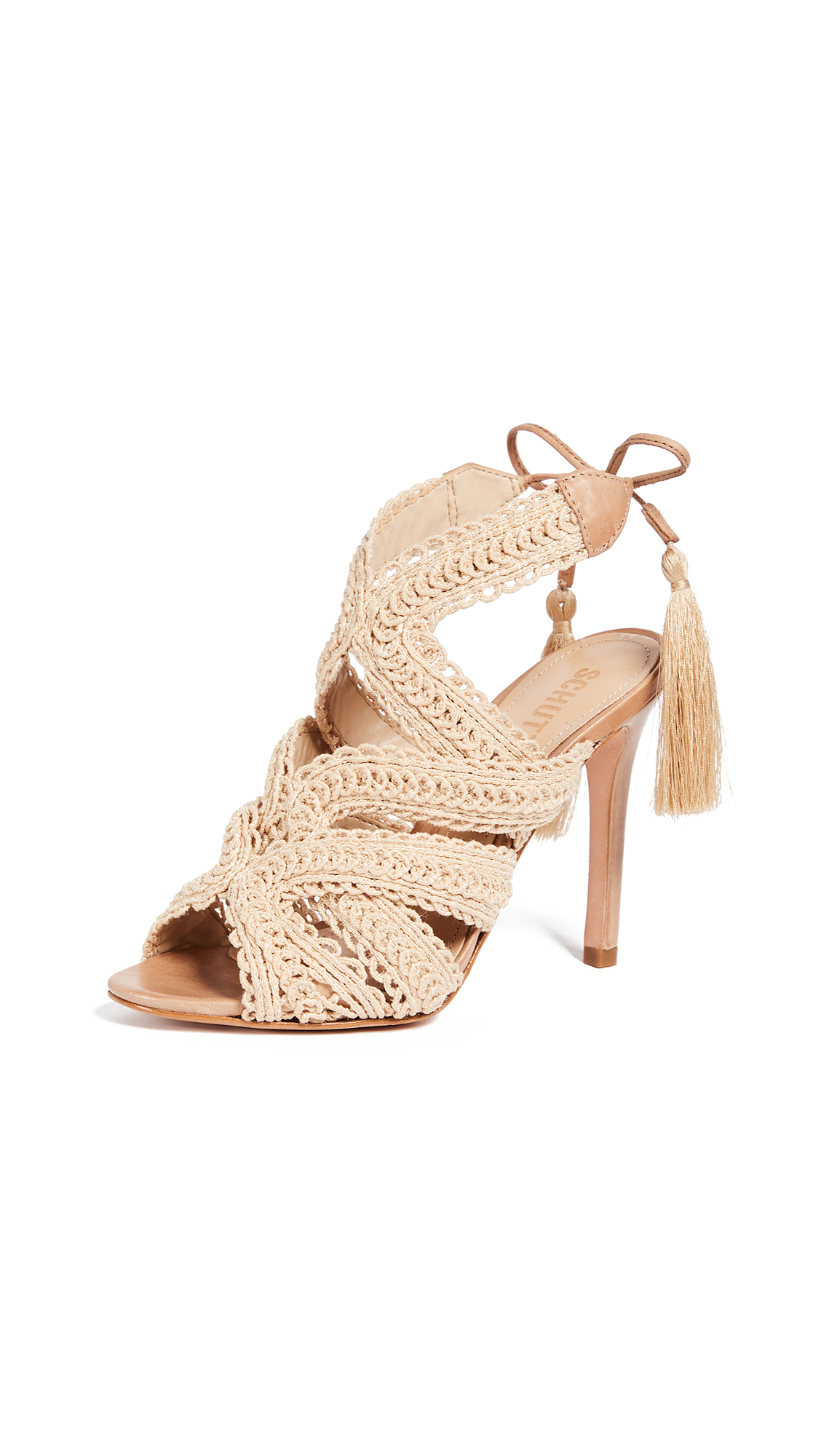 Schutz Glaucia Strappy Sandals - Natural/Desert