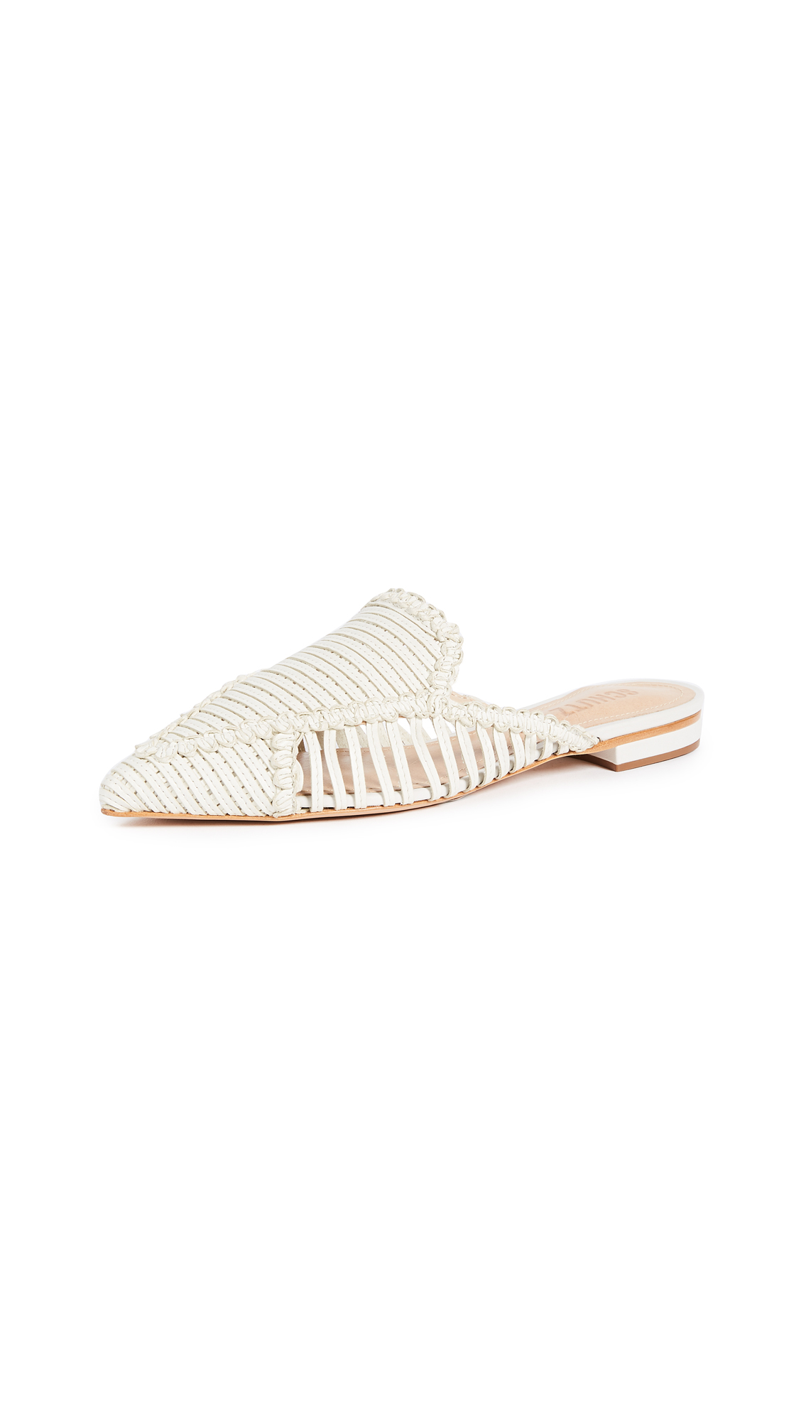 Schutz Marli Point Toe Mules - Pearl