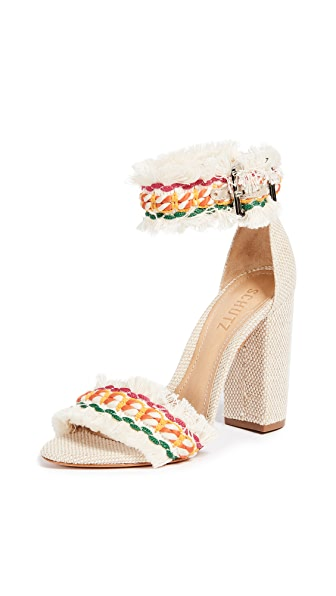 Schutz Zoola Block Heel Sandals In Multi