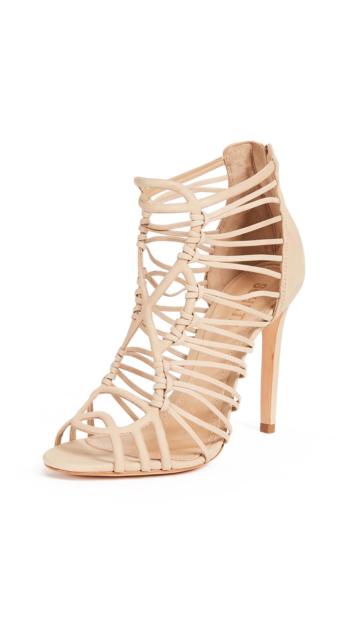 Schutz Naama Caged Sandals - Amber Light