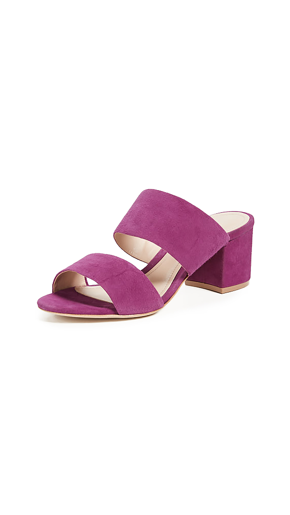 Schutz Rashne Double Strap Sandals - Grape